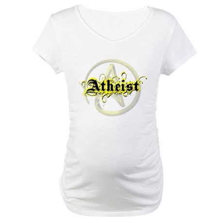 Atheist Yellow Maternity T-Shirt