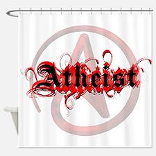 Atheist Red Shower Curtain