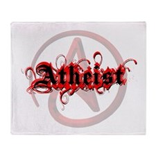Atheist Red Throw Blanket