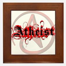 Atheist Red Framed Tile