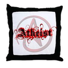 Atheist Red Throw Pillow