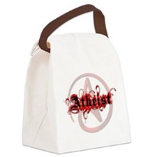 Atheist Red Canvas Lunch Bag