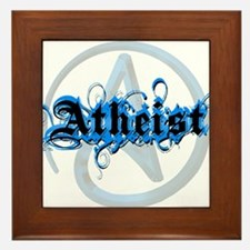 Atheist Blues Framed Tile