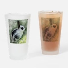 Cute Bunny Drinking Glass