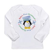 #5 Penguin 1st Christmas Long Sleeve Infant T-Shir