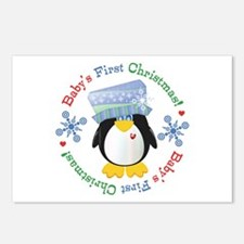 #5 Penguin 1st Christmas Postcards (Package of 8)