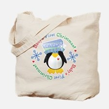 #5 Penguin 1st Christmas Tote Bag