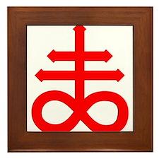 Hermetic Alchemical Cross Framed Tile