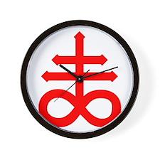 Hermetic Alchemical Cross Wall Clock