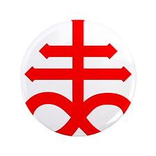"Hermetic Alchemical Cross 3.5"" Button"