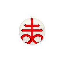 Hermetic Alchemical Cross Mini Button