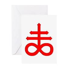 Hermetic Alchemical Cross Greeting Card