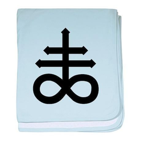 Hermetic Alchemical Cross baby blanket