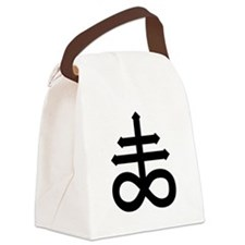 Hermetic Alchemical Cross Canvas Lunch Bag