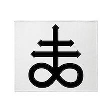 Hermetic Alchemical Cross Throw Blanket