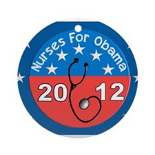 Nurses for Obama yard sign.JPG Ornament (Round)