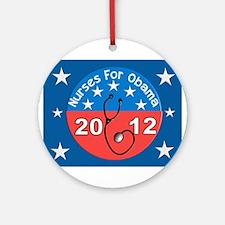 Nurses for Obama yard sign.JPG Ornament (Round)