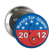 "Nurses for Obama yard sign.JPG 2.25"" Button"