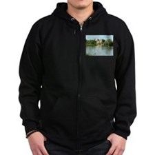 Linlithgow Palace and Loch 1371 Zip Hoodie