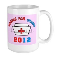 nurses for obama yard sign pink.PNG Mug