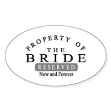 Property Bride Forever Oval Decal