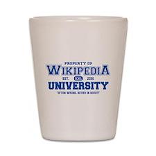 Wikipedia University Shot Glass