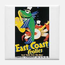 1933 East Coast Frolics Tile Coaster