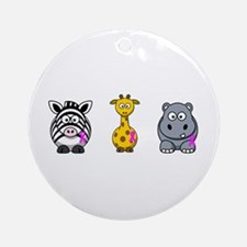 breast cancer cartoon animalslrg.png Ornament (Rou