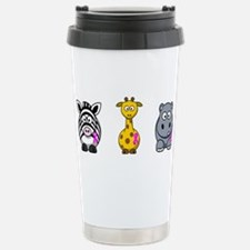 breast cancer cartoon animalslrg.png Travel Mug