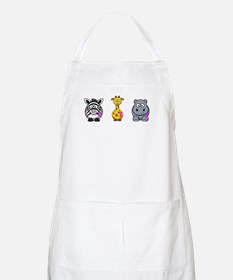 breast cancer cartoon animalslrg.png Apron