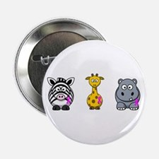 "breast cancer cartoon animalslrg.png 2.25"" Button"