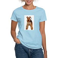 Welsh Terrier portrait Women's Pink T-Shirt