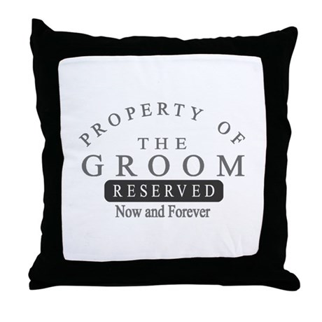 Property Groom Forever Throw Pillow