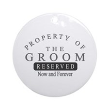 Property Groom Forever Ornament (Round)