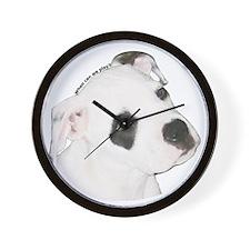 American Bulldog Puppy copy.png Wall Clock