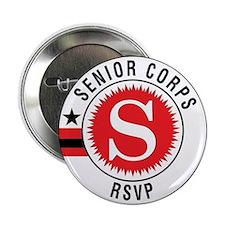 "Red Senior Corps RSVP Logo 2.25"" Button"