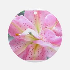 Asiatic lily 255 Ornament (Round)