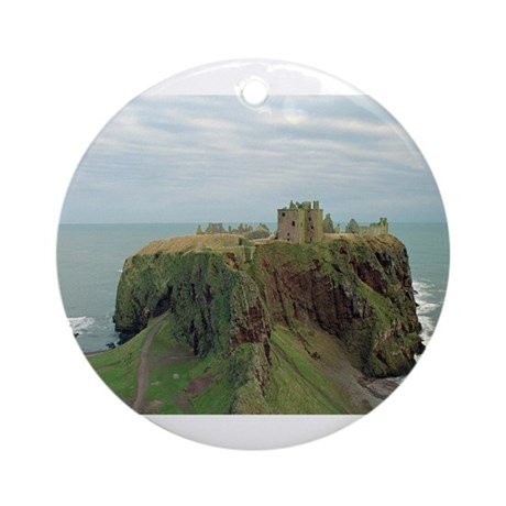 Dunnottar Castle one Ornament (Round)
