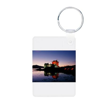 Eilean Donan castle three Aluminum Photo Keychain