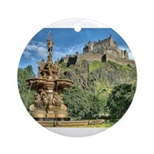 Edinburgh Castle 98 , Scotland Ornament (Round)