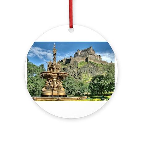 Edinburgh Castle 98 , Scotland Ornament (Round)