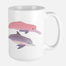 Boto and Tucuxi Amazon River Dolphins Large Mug