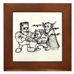 Funny Monsters Framed Tile