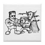 Funny Monsters Tile Coaster