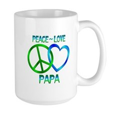 Peace Love Papa Mug