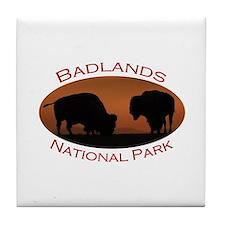 Badlands National Park...Bison Sunset Tile Coaster