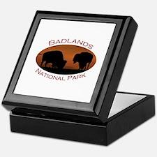 Badlands National Park...Bison Sunset Keepsake Box