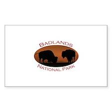 Badlands National Park...Bison Sunset Decal