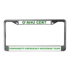 O'ahu CERT License Plate Frame