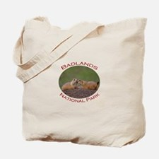 Badlands National Park...Prairie Dog Kiss Tote Bag